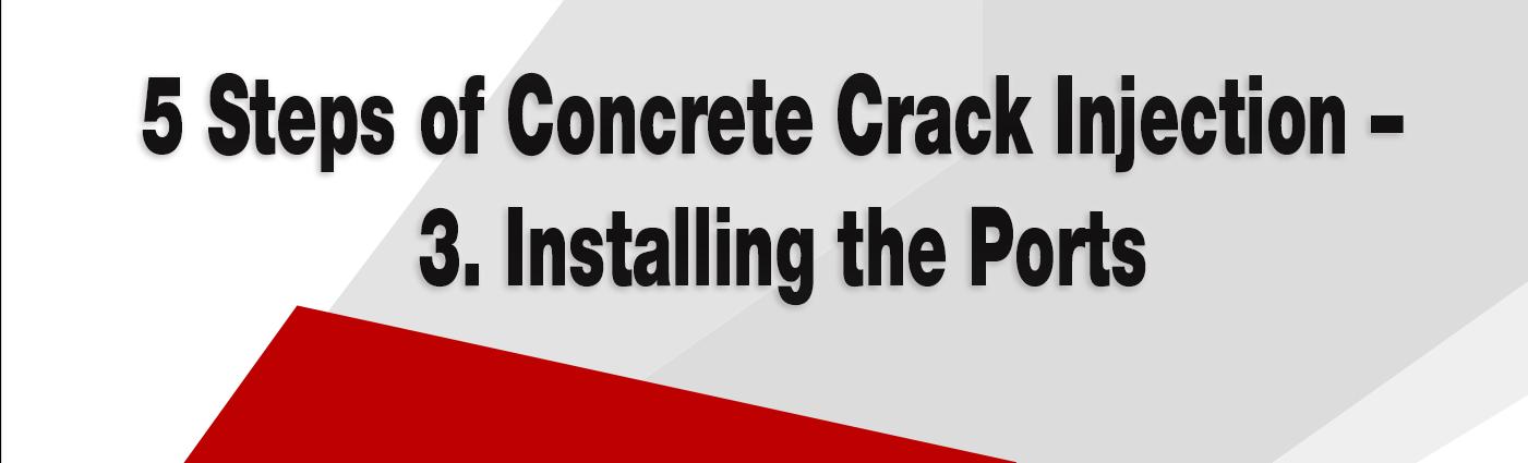 Concrete Crack Injection - alchemy-spetec