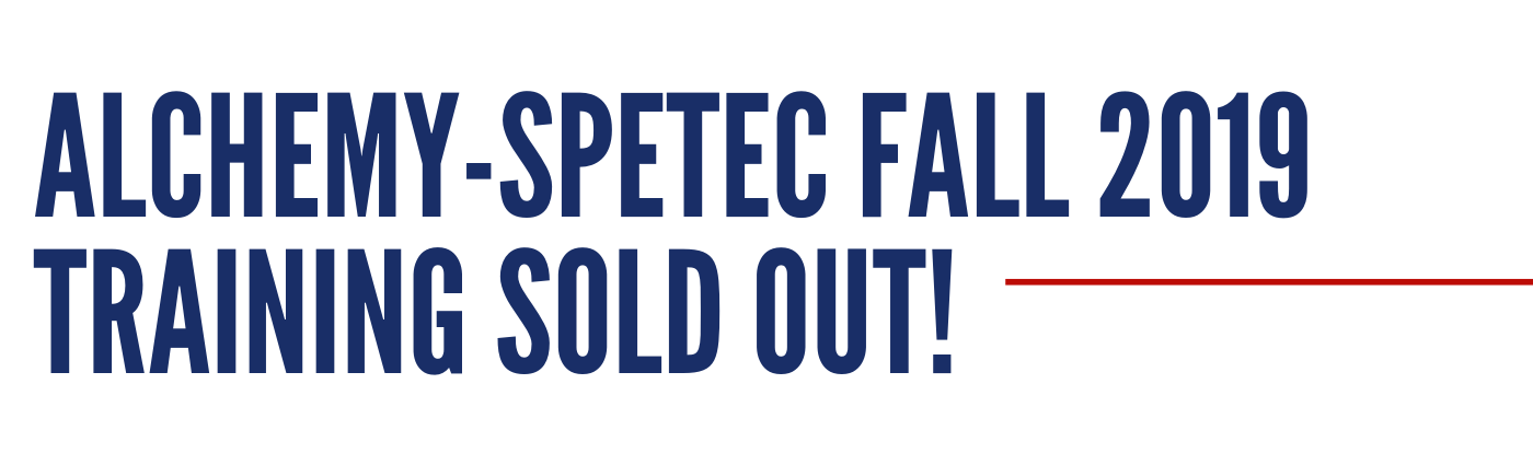 Alchemy-Spetec Fall 2019 Training SOLD OUT! (1)