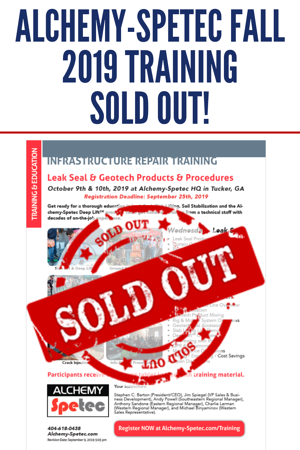 Alchemy-Spetec Fall 2019 Training SOLD OUT!
