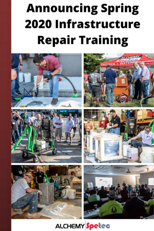 Announcing Spring 2020 Infrastructure Repair Training