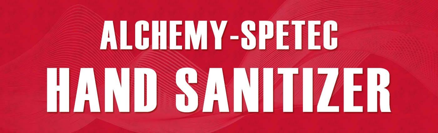 Banner - Alchemy-Spetec Hand Sanitizer