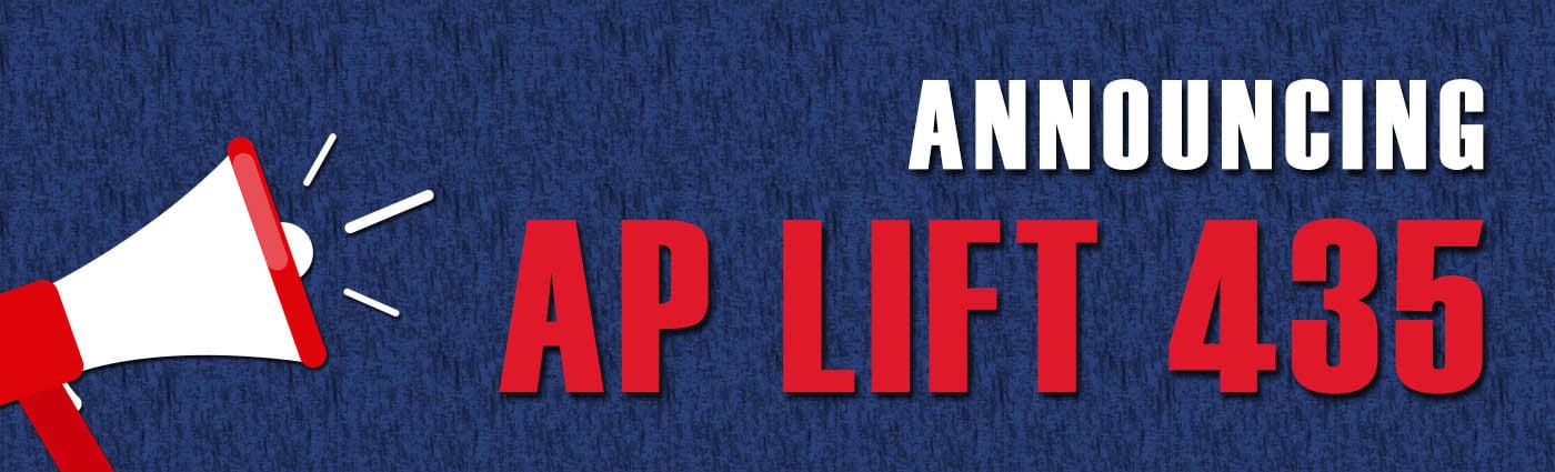 Banner - Announcing AP Lift 435