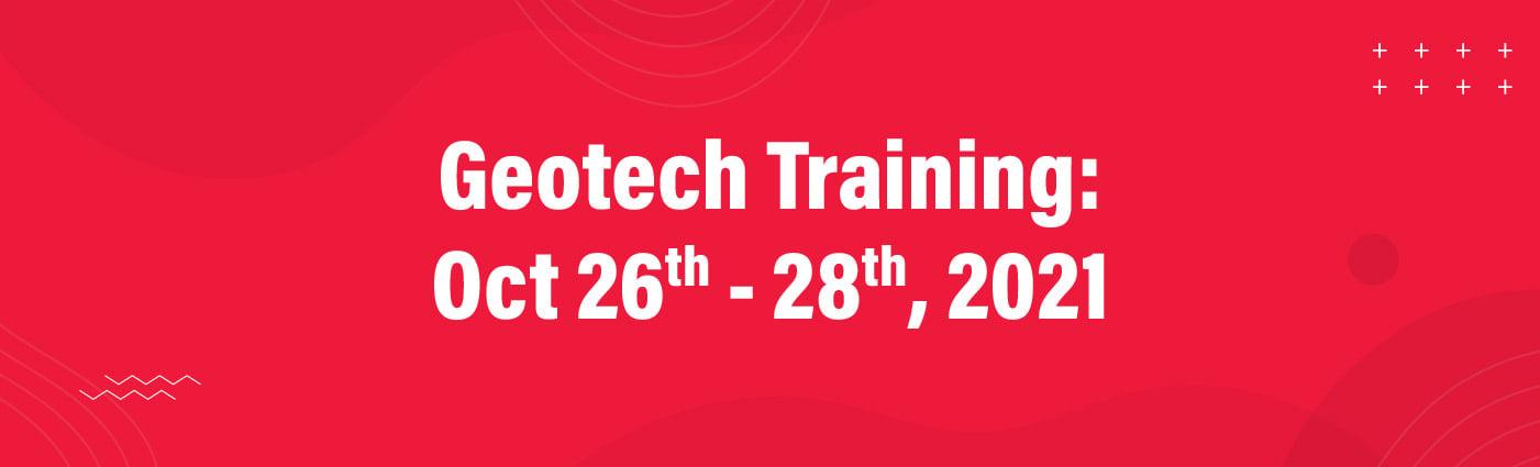 Banner - Geotech Training Fall 2021