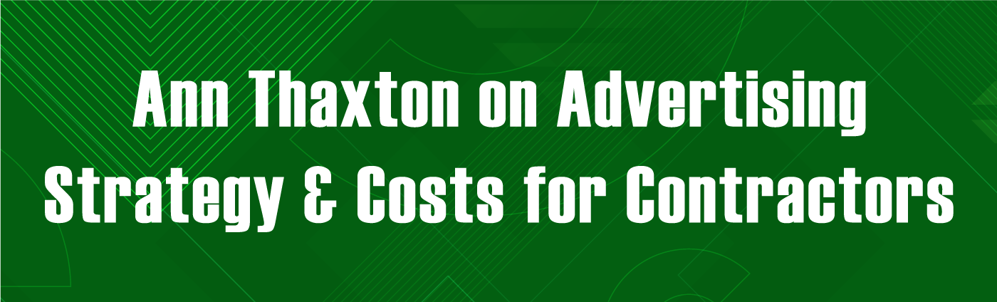Banner-Advertising Strategy and Cost for Contractors