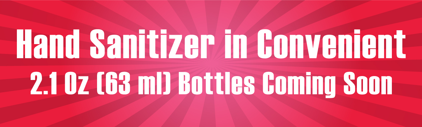 Banner-Hand Sanitizer in Convenient Bottles