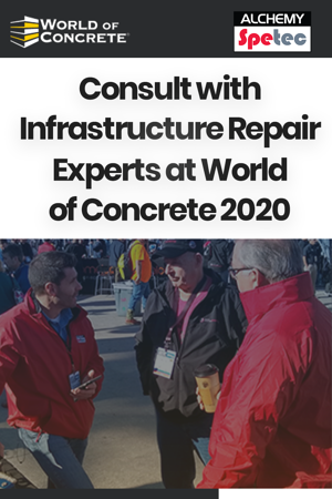 Consult with Infrastructure Repair Experts at World of Concrete 2020