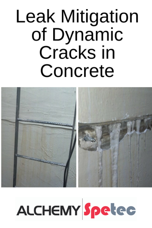 Leak Mitigation of Dynamic Cracks in Concrete