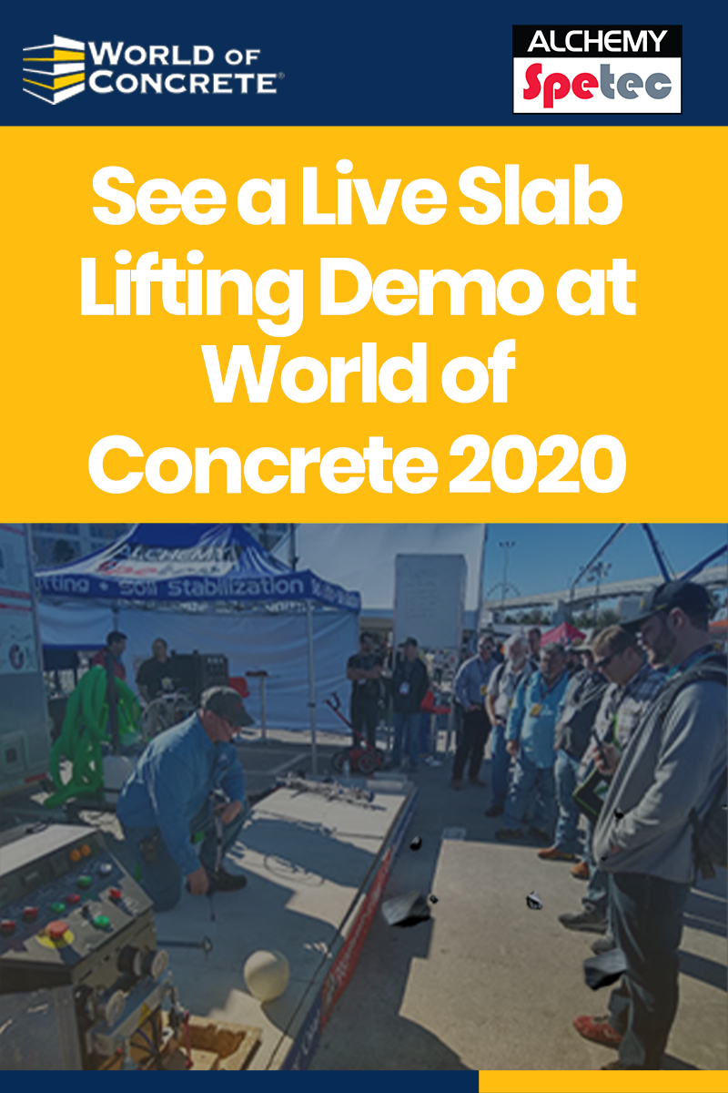 See a Live Slab Lifting Demo at World of Concrete 2020