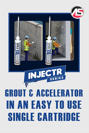 Body - INJECTR Series - Grout & Accelerator in an Easy to Use Single Cartridge