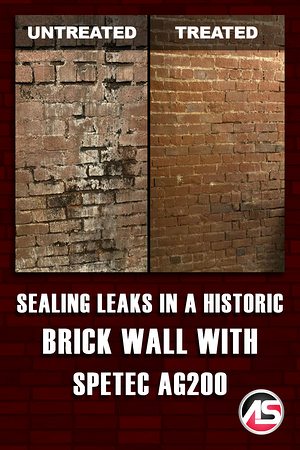 Body - Sealing Leaks in a Historic Brick Wall with Spetec AG200