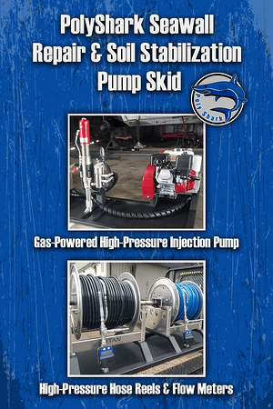 Body-PolyShark Seawall Repair & Soil Stabilization Pump Skid Graphic