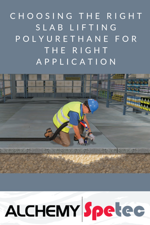 In our continuous effort to make sure you have the technical knowledge to succeed, we'll explain how to select the appropriate slab lifting polyurethane.