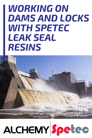 Working on Dams and Locks with Spetec Leak Seal Resins