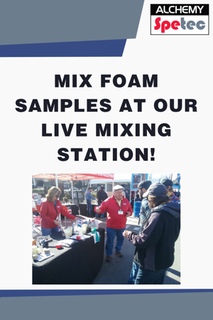 MIX FOAM SAMPLES AT OUR LIVE MIXING STATION!-blog