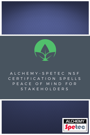 Alchemy-Spetec is already known for providing the most powerful polymers and painless procedures contractors need to achieve the rapid results their projects demand. However, on construction projects of almost any scope and size, ensuring the safety of public drinking water is also mission-critical.