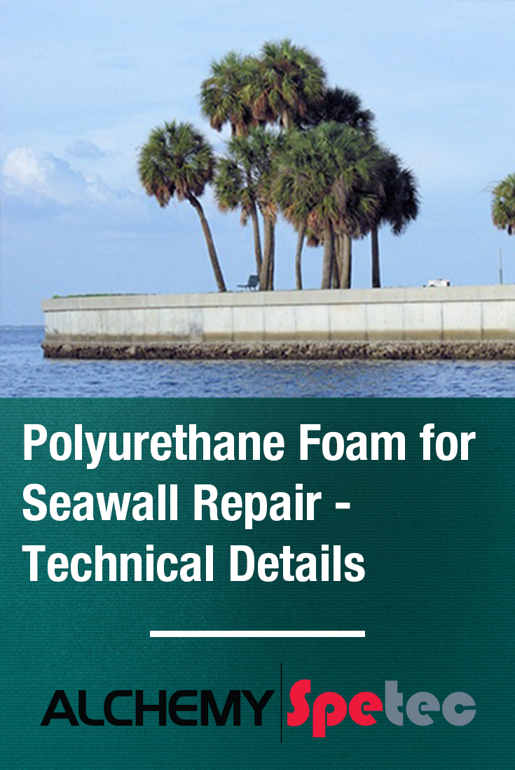 Repair sea walls instead of replacing them.  Stop high flow leaks, fill voids behind seawalls, and bind loose soil with AP Fill 700.  Let's take a look at a few basic technical details...