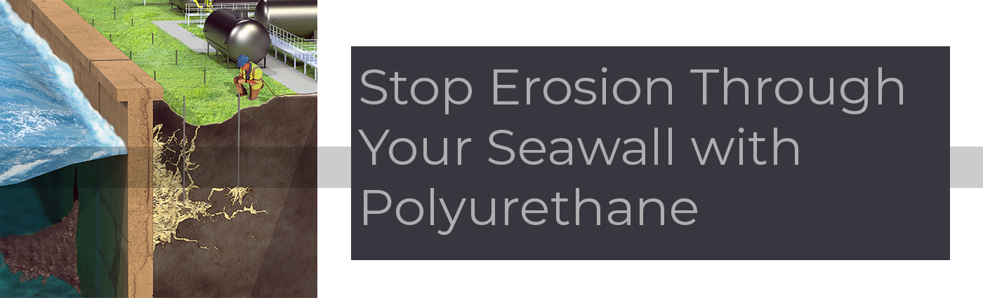 A seawall has a finite lifespan of 20-30 years and depending on where you live, replacing a seawall can cost anywhere from $150 to $500 per foot. Today, signs of seawall distress can be solved before they get worse through the application of polyurethane grouts to seal leaks, fill voids, and stabilize the surrounding soils. Read more on how...