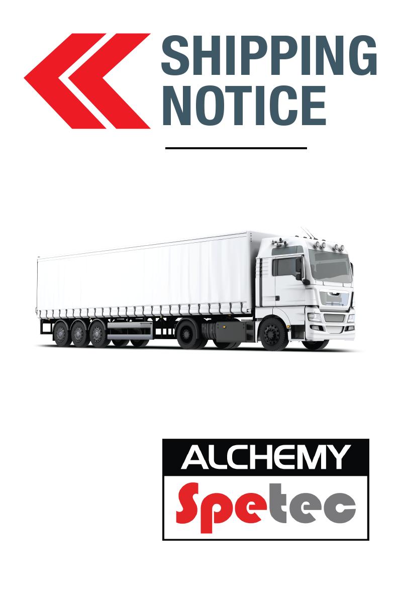 Alchemy-Spetec Shipping Notice