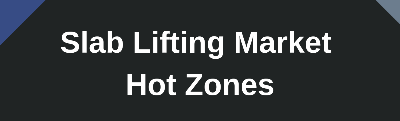 Once you're ready to make the move to start up a slab lifting business, one of your first areas of focus should be identifying and defining your service areas and your potential customer base within each sector or area.  Read more...