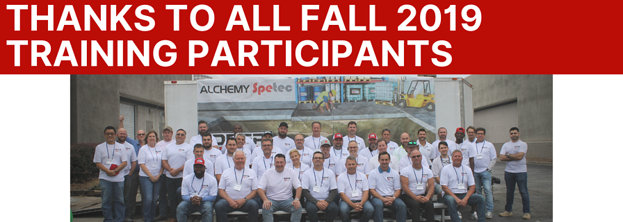 Thanks to All Fall 2019 Training Participants