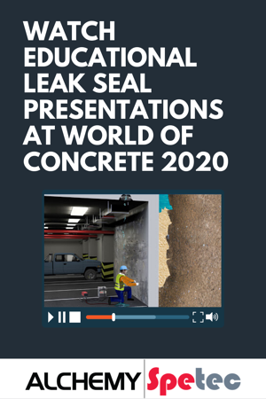 Watch Educational Leak Seal Presentations at World of Concrete 2020