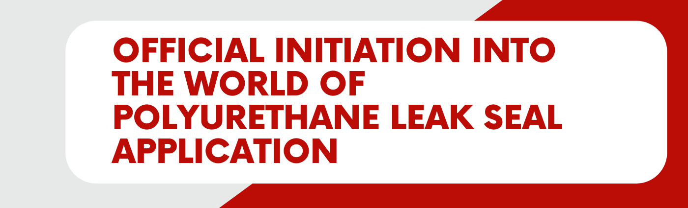 Official Initiation Into the World of Polyurethane Leak Seal Application