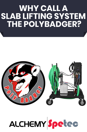 In this post, we'll take a deep dive into why Alchemy-Spetec's smallest slab lifting system is called The PolyBadger. Alchemy-Spetec
