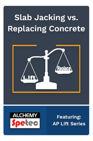 So you've got a sunken concrete slab that needs either replacement or lifting back into place. How do you know what is the right thing to do? Read more to find out...