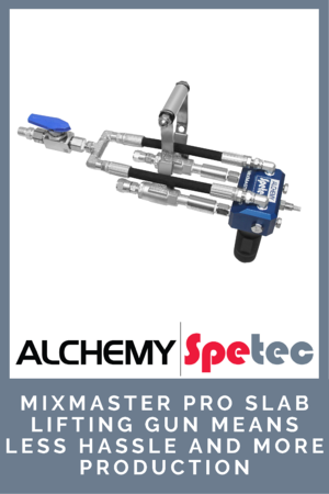 MixMaster Pro Slab Lifting Gun Means Less Hassle and More Production