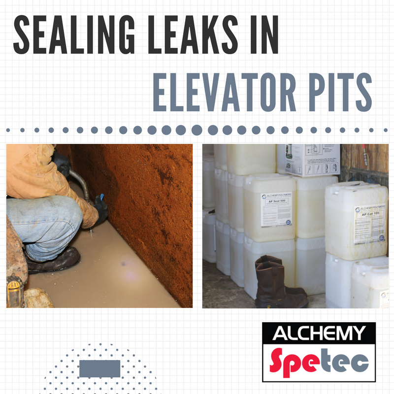 Sealing Leaks in Elevator Pits