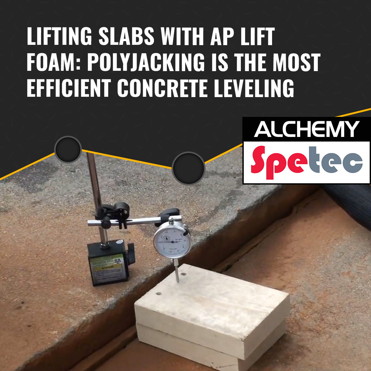 Lifting Slabs With Ap Lift Foam Polyjacking Is The Most